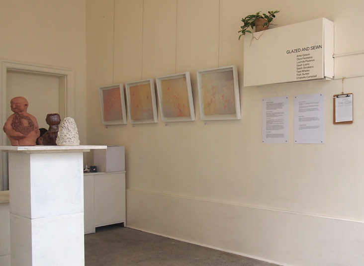 In the distance is the delicate work of  Charlotte Campbell!  So SO lovely.