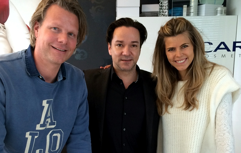 Vlnr: Maurice van Bussel (directeur Je m'appelle), Spiros Chalos (directeur EGO Company), Kim Kötter (directeur Miss Nederland Organisatie)