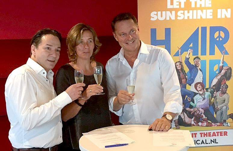 vlnr: Spiros Chalos (EGO Company), Sandra Baars (Suzuki), Albert Verlinde (Stage Entertainment)