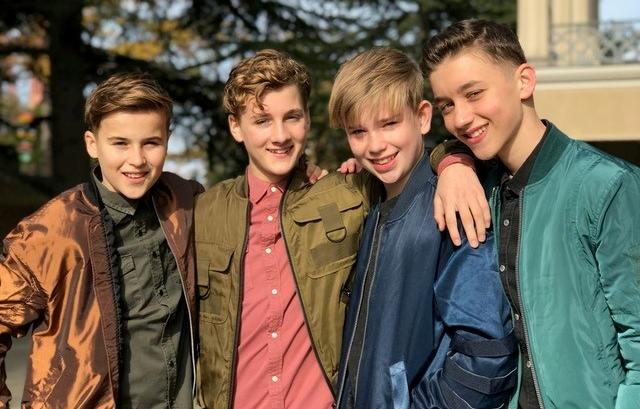 FOURCE vlnr: Niels, Jannes, Ian, Max
