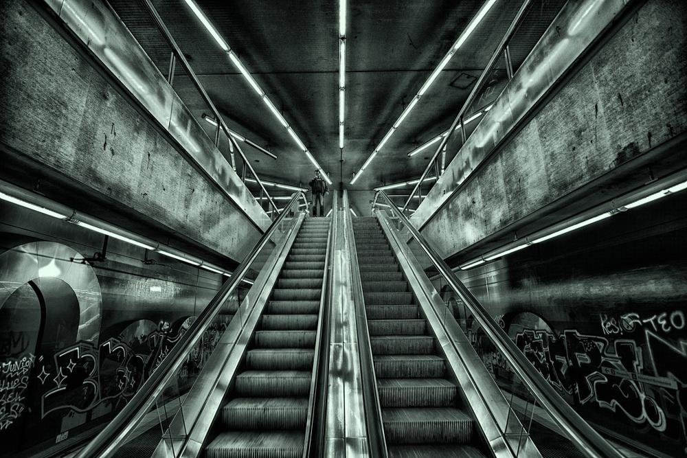 Das Corpus Delicti - natürlich ist das Foto gemeint und nicht die Rolltreppe.