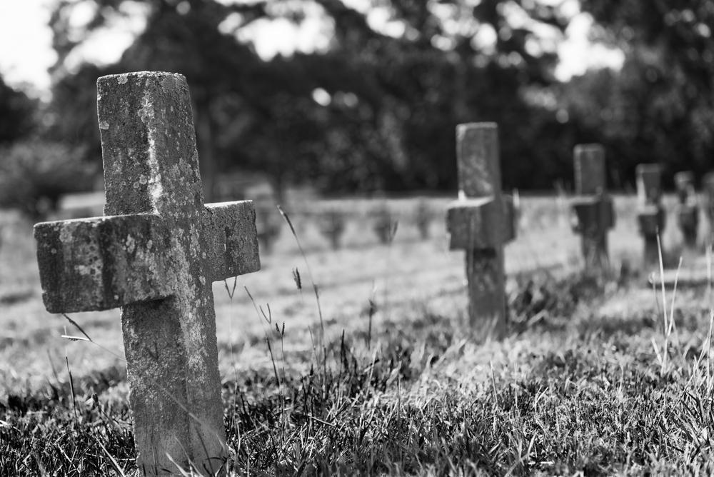 Auf den meisten der Grabsteine steht nicht einmal ein Name - auf vielen ist nur eine Nummer und ein Datum zu lesen.