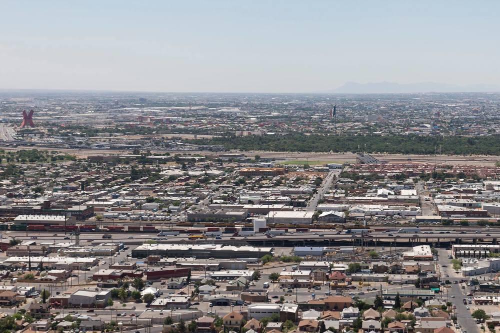 Blick von El Paso nach Juarez in Mexico