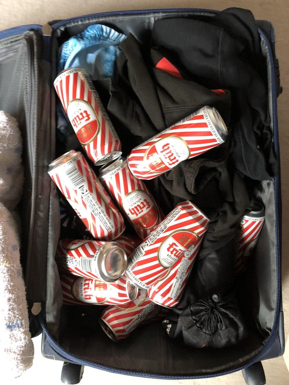 Wichtig: Koffer ordentlich packen.