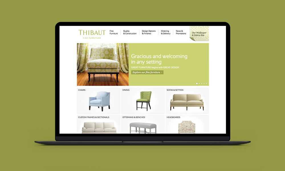 ... Custom Furniture Of Thibaut. Thibaut It A 125 Year Old Company That Is  Best Know For Custom High End Fabrics. I Was Responsible For The Creative  On The ...