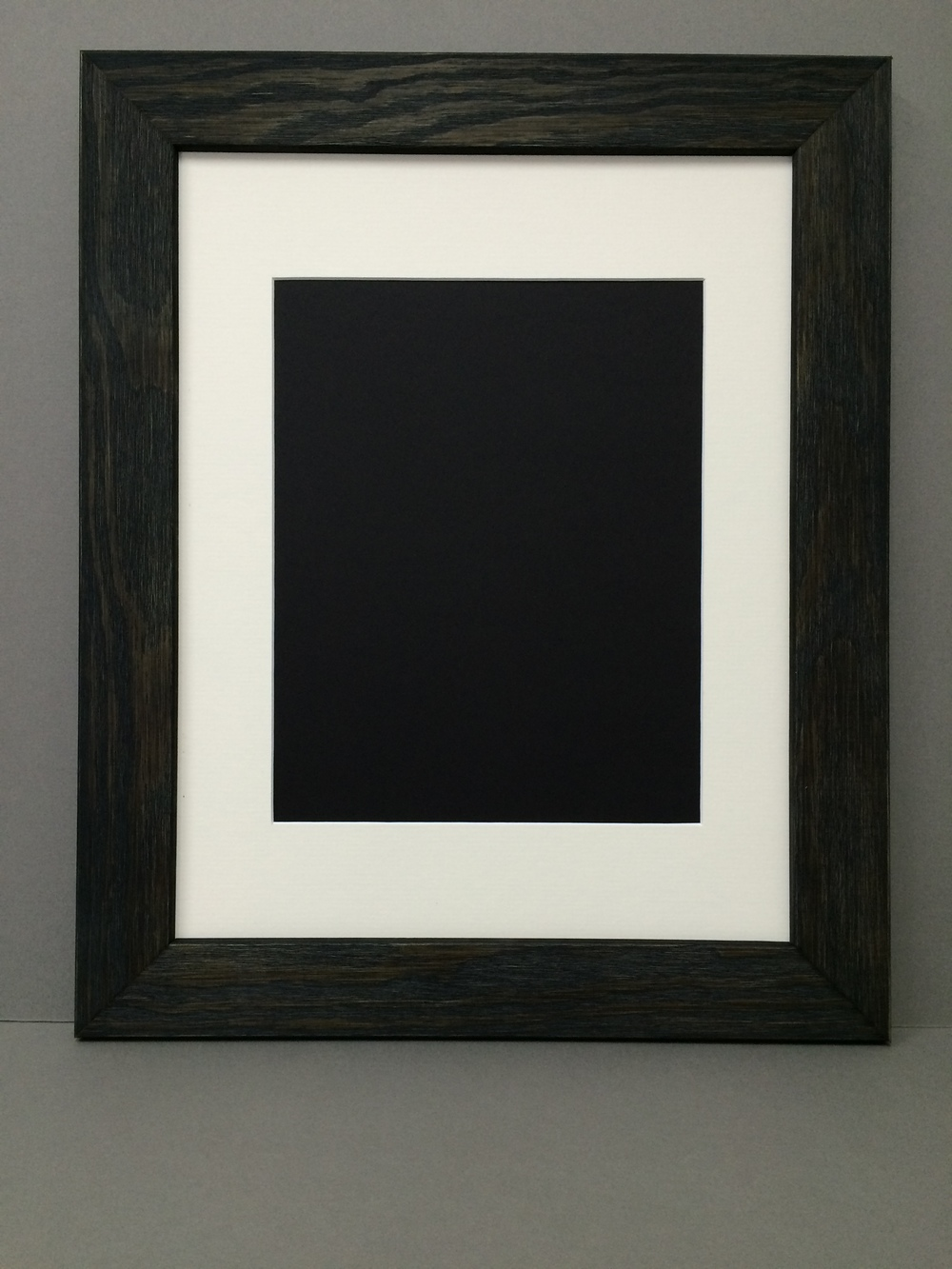 11x14 1 75 rustic black frame with single mat for 8x10 picture