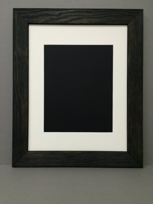 18x24 175 Rustic Black Frame With Single Mat For 12x18 Picture