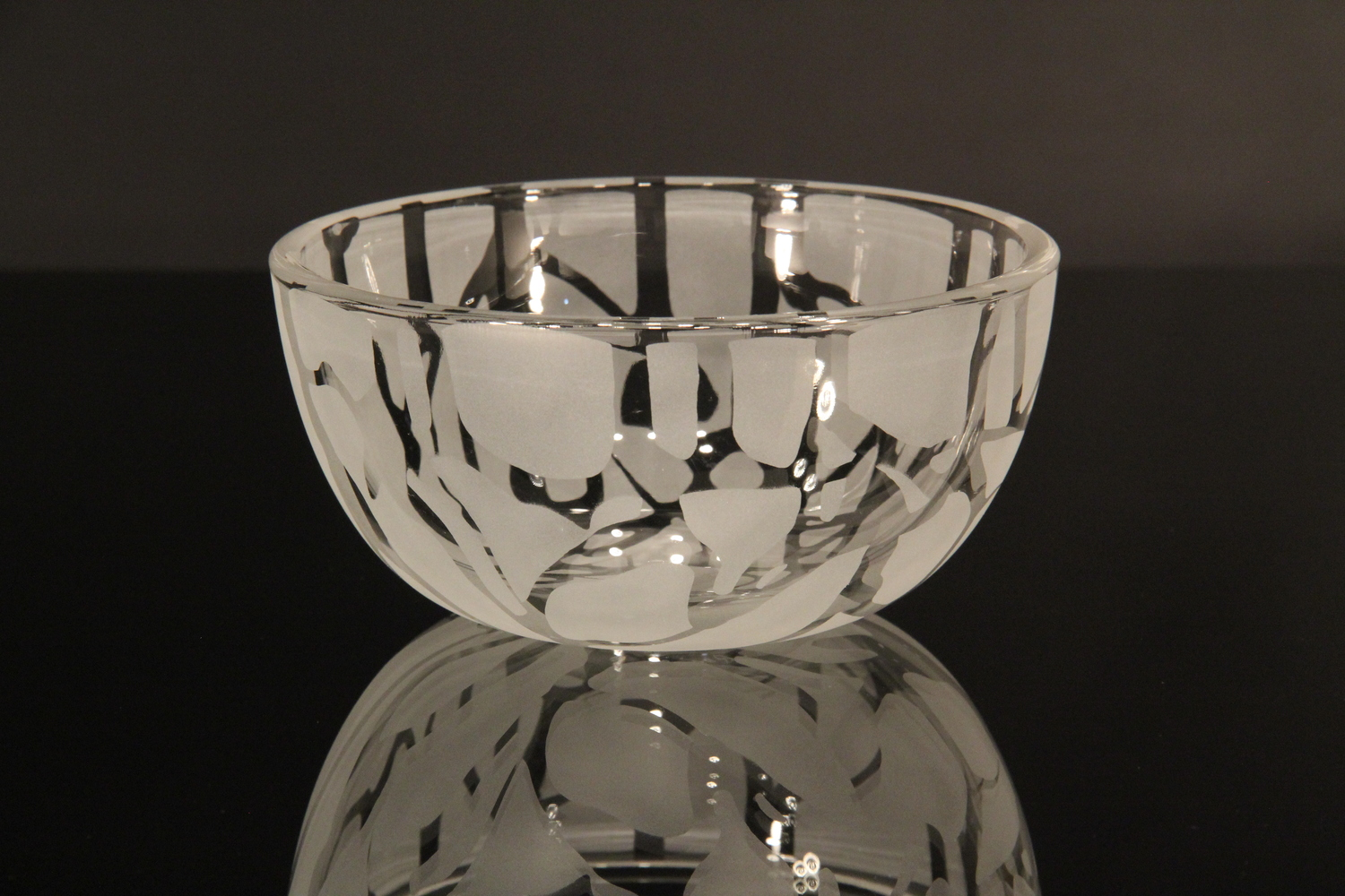 Frozen Ice Small Glass Bowl