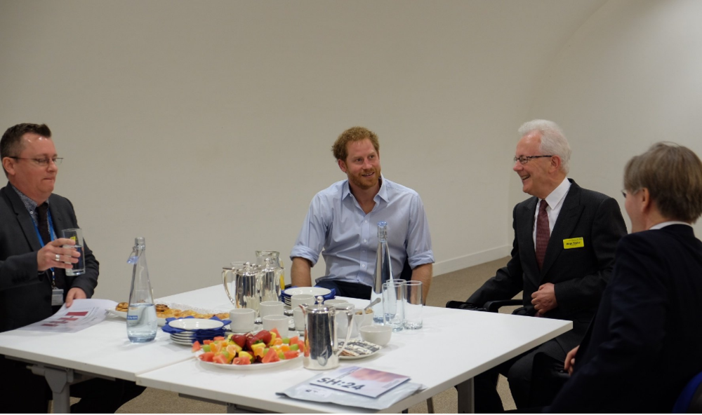 Prince Harry hears about Guys and St Thomas' NHS trust innovations