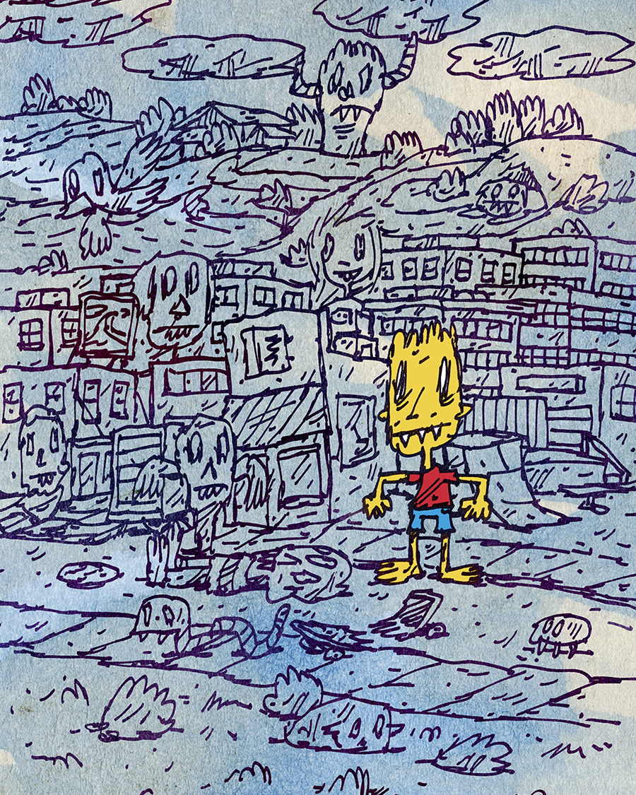 "This is the piece I contributed to the   ""Bootleg Bart"" show at Fortune Sound  , Vancouver July 2015."