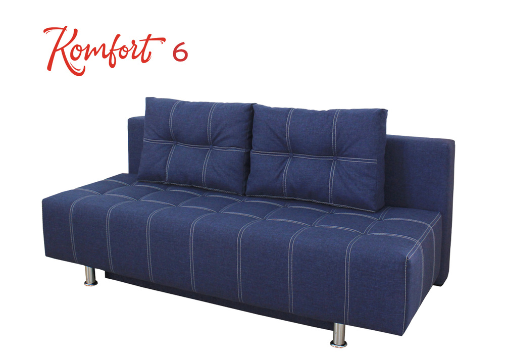 Komfort 5,6      Frame - wood,      Filling: MDF, chipboard, laminated chipboard, bonel spring, polyurethane foam, fleece, upholstery material      Niche for linen - Available      The mechanism of transformation - evroknizhka      The total size (length / width / height) - 2.05x1.02x0 .81         Sleeper deposits 2.05x1.55