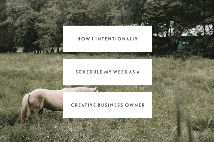 how i intentionally schedule my week as a creative business owner