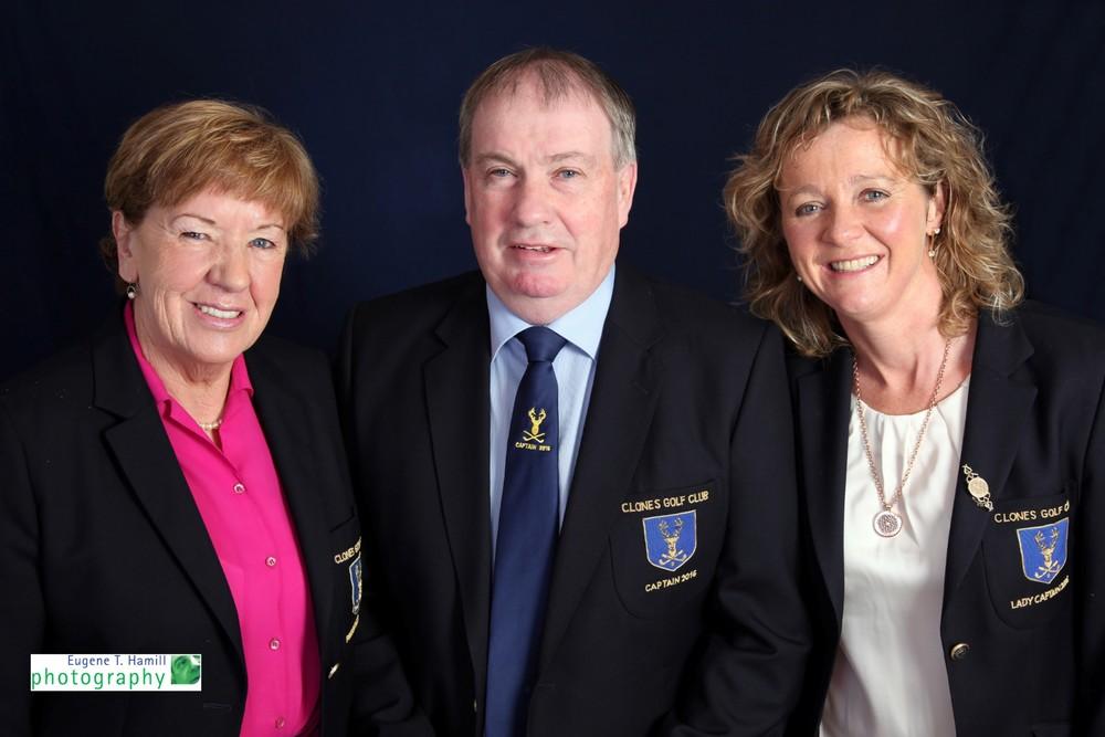 Anne McCarthy President, Paddy McKeown Captain & Geraldine Fitzpatrick Captain.