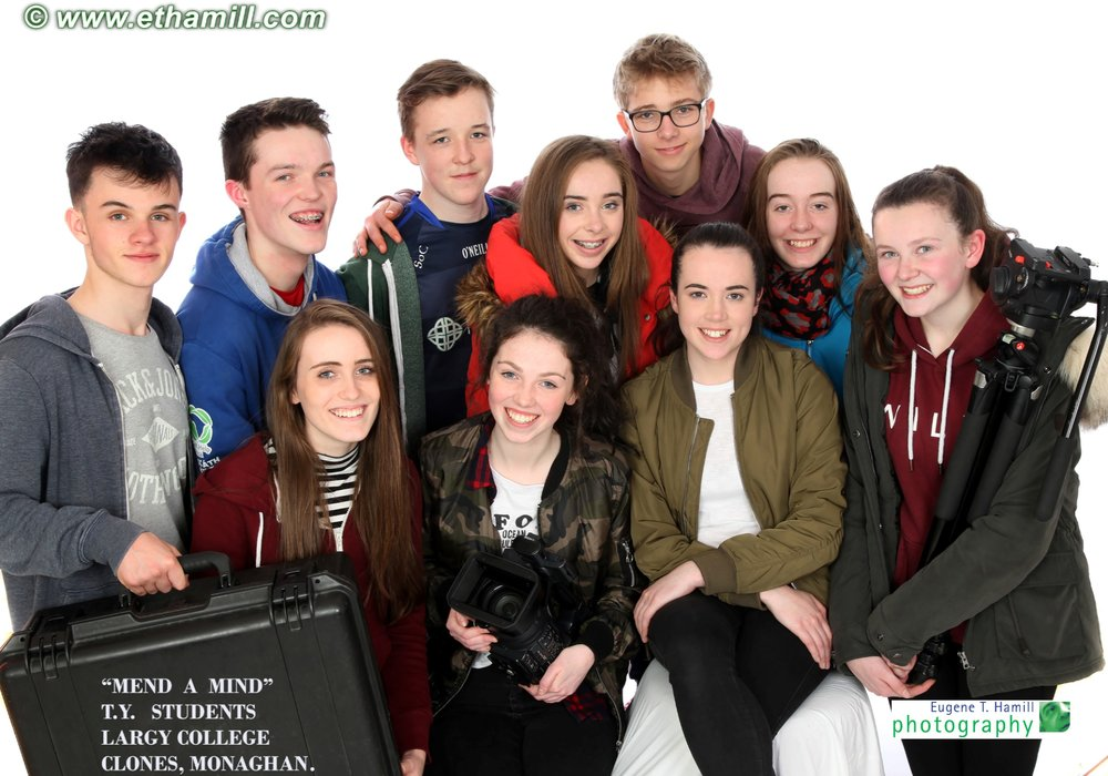 Sean Bonner, Eoghan Courtney, Simon O'Connell, Leon Ackermann(visiting exchange student from Berlin), Katie Cooper, Eimear McPhillips, Cliana McCarville, Katie Monaghan, Orlaigh Flanagan and Laura Hamill. Not in image, went home a little earlier Cliona Carolan, Niamh Poynton & Aoife Fitspatrick.