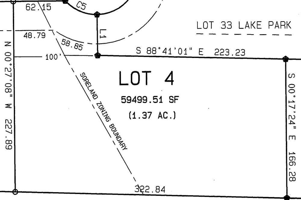 Lot 4: 1.37 Acres  – $64,900