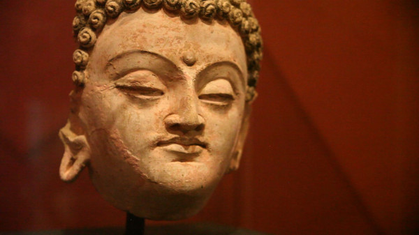 An intricate Buddha head discovered at Mes Aynak.