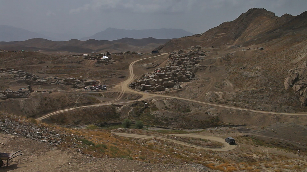 The road to Mes Aynak. Mes Aynak is located in Taliban-controlled Logar Province Afghanistan, 25 miles southeast of Kabul.