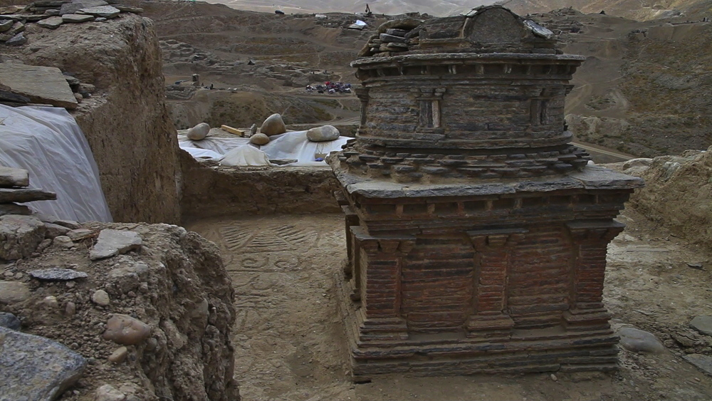 One of Mes Aynak's stupas.