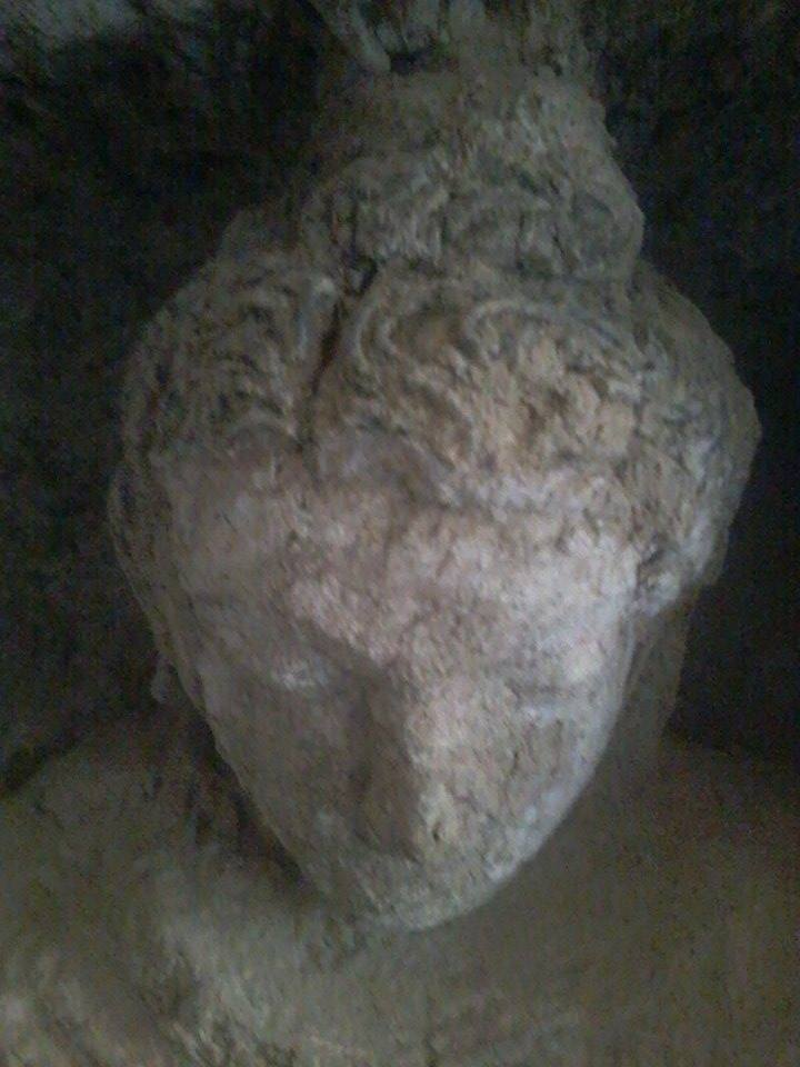 One of the three newly discovered Buddha statues found at Mes Aynak in 2015.