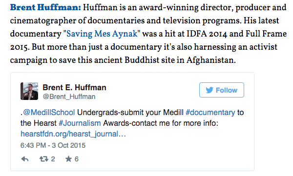 Indiewire Names Brent Huffman As One of 'The 25 Documentary