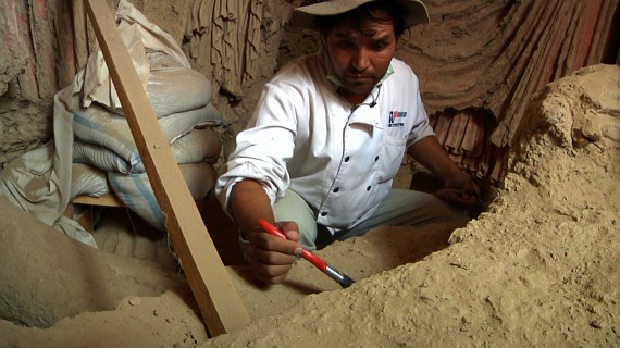Afghan Archaeologist Qadir Temori hard at work, Saving Mes Aynak
