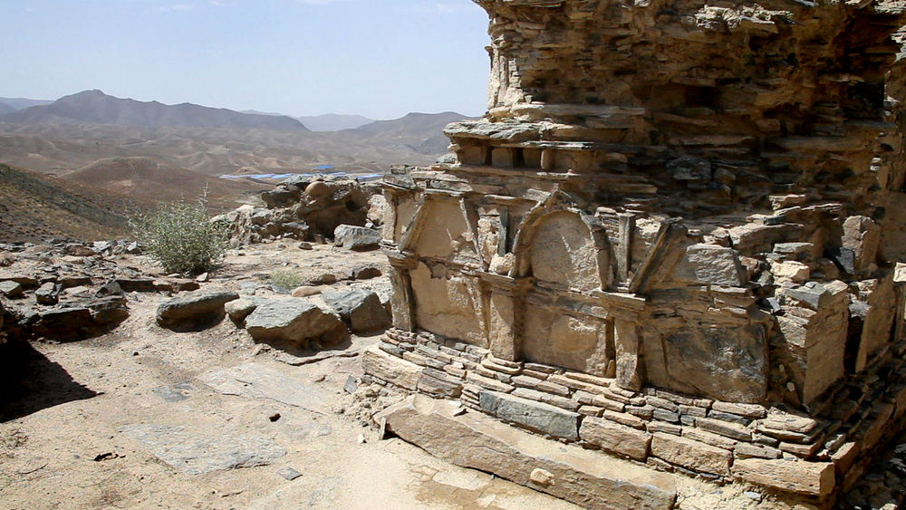 An impressive Mes Aynak structure, overlooking the MCC (Chinese State-owned mining company) camp.