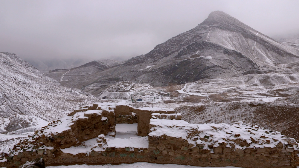 Mes Aynak in the winter.