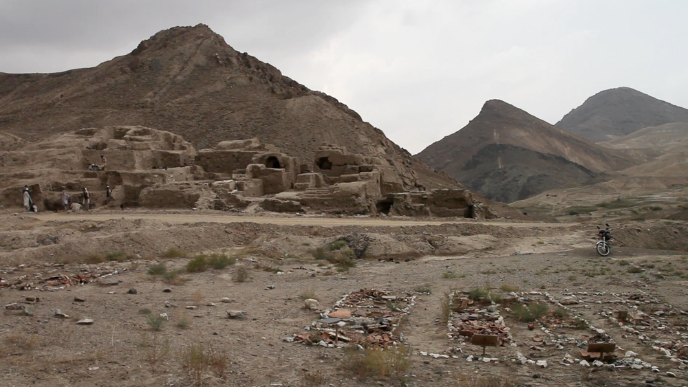 One of the many archaeological sites found at Mes Aynak.