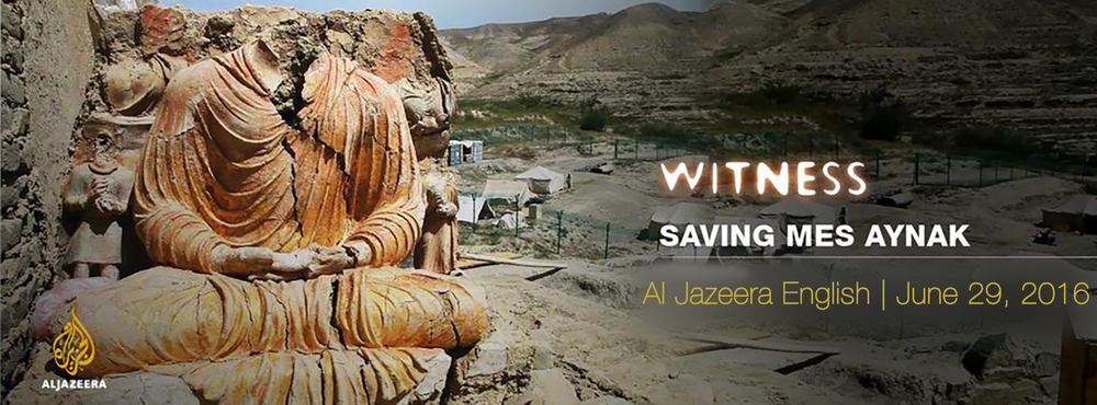 Al Jazeera's promo for Saving Mes Aynak. Click image to view.