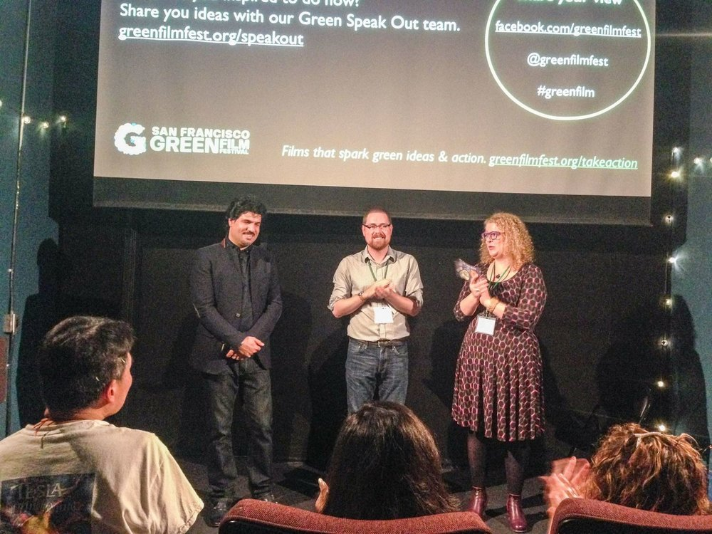At the sold-out screening of San Francisco Green Film Festival last April. Homayoun Sakhi, the composer of the film, was warmly received by the crowd. a