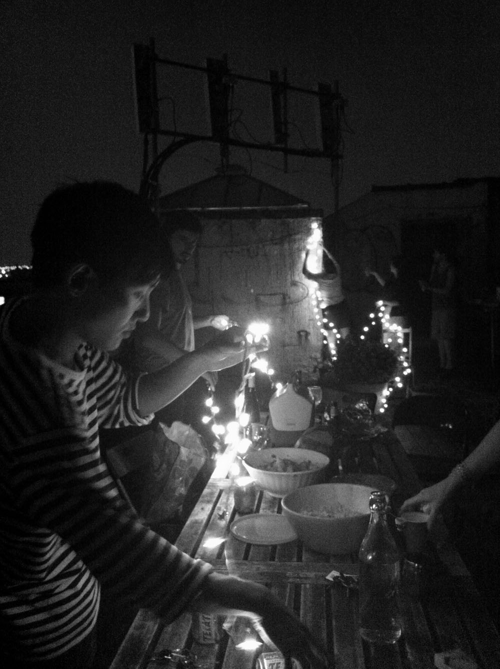 Rooftop party in Bushwick Brooklyn, NY August 2012