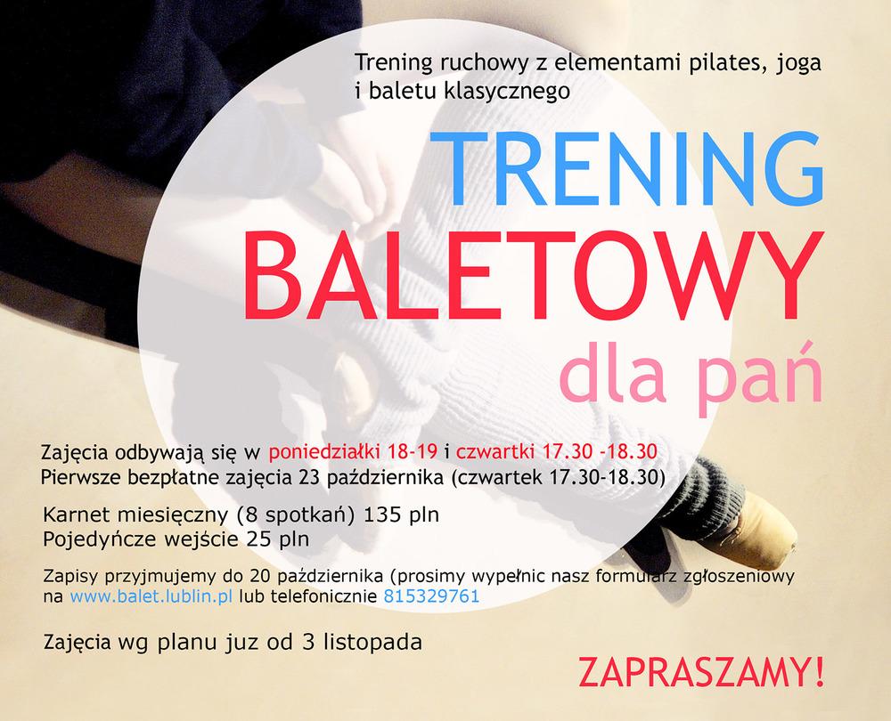 Trening baletowy w SOB