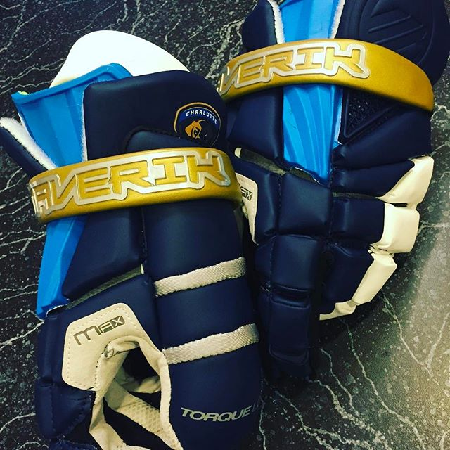 Coach Cip's  new @maveriklacrosse gloves for the season. What do we think?
