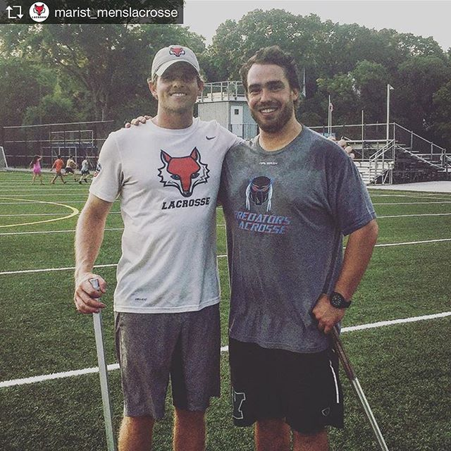Great having former Marist goalie and newly appointed Marist Assistant coach out to help at a clinic. One of the best goalies the school has ever seen and an even better coach. Good luck this year coach.  Repost from @marist_menslacrosse @TopRankRepost #TopRankRepost Couple of #MARIST lacrosse goalies coaching together tonight in Westchester- Current Asst. Coach and 2015 MAAC Tournament MVP Dave Scarcello '15 (L) with former @marist_menslacrosse 4 year starter and 3X Captain Ryan Penner '09 (R) #MARIST #FAM