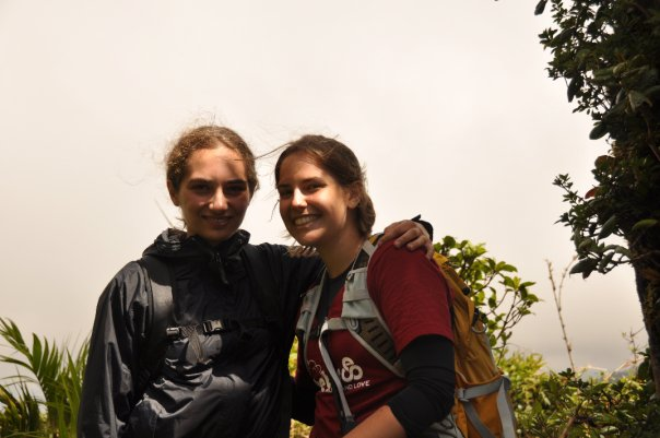 Laurel and Jen in Costa Rica on the Bio FSP. Bigger insects!