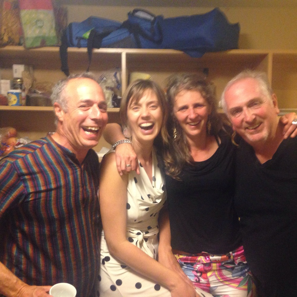 Fellow songwriters at the camp swing dance