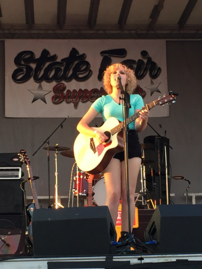 Attendees voted for their favorite performers, such as 2015 winner Carly Bins, during the State Fair Superstar competition.