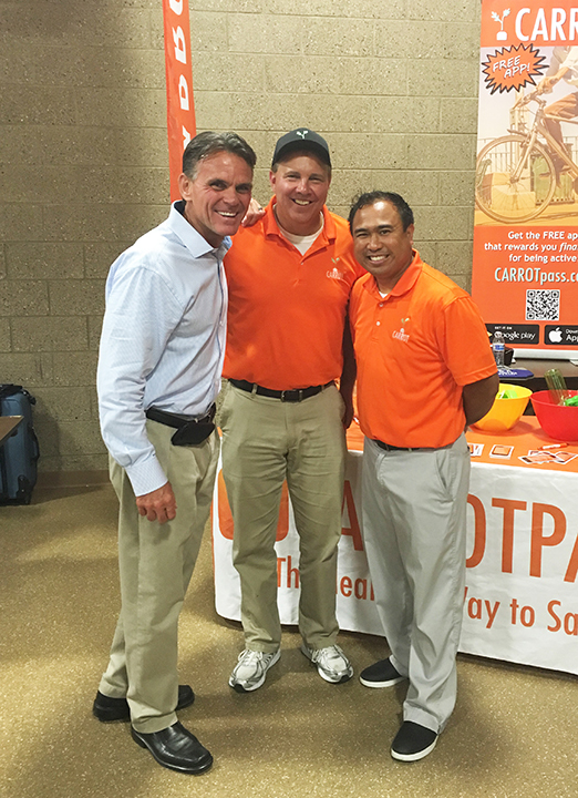 Macomb County Executive Mark Hackel with CARROT VP Mike Murray and CEO Michael Antaran.