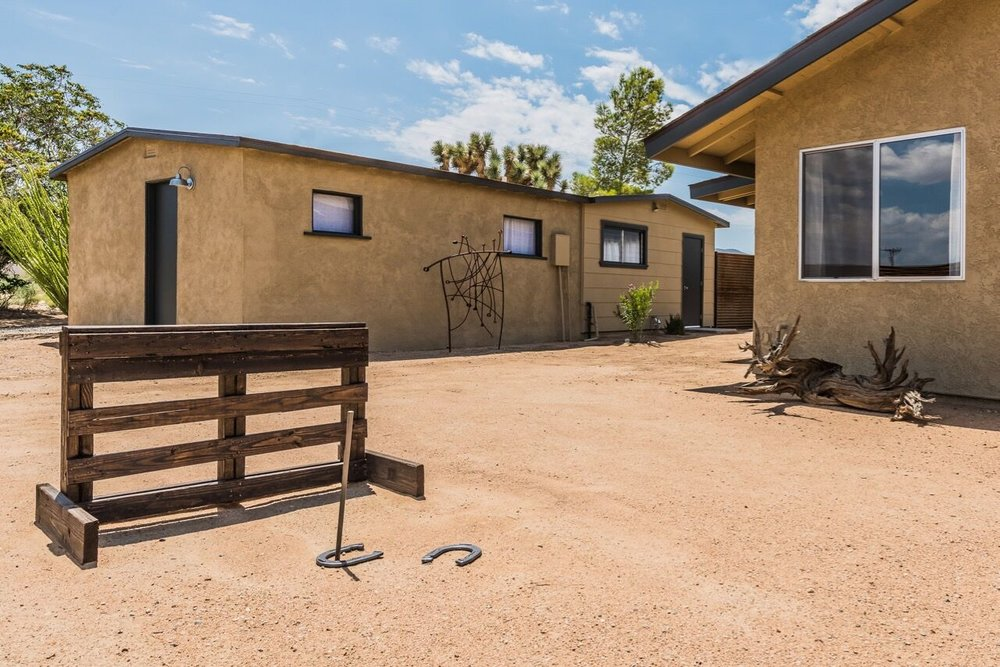 Horseshoe Pits - Renters love any excuse to be outdoors in our High Desert environment. One of the least expensive things you can offer them as way of enticement is a horseshoe pit.  We build them to regulation requirements so that your  renters can experience authentic horseshoe matches with their friends.