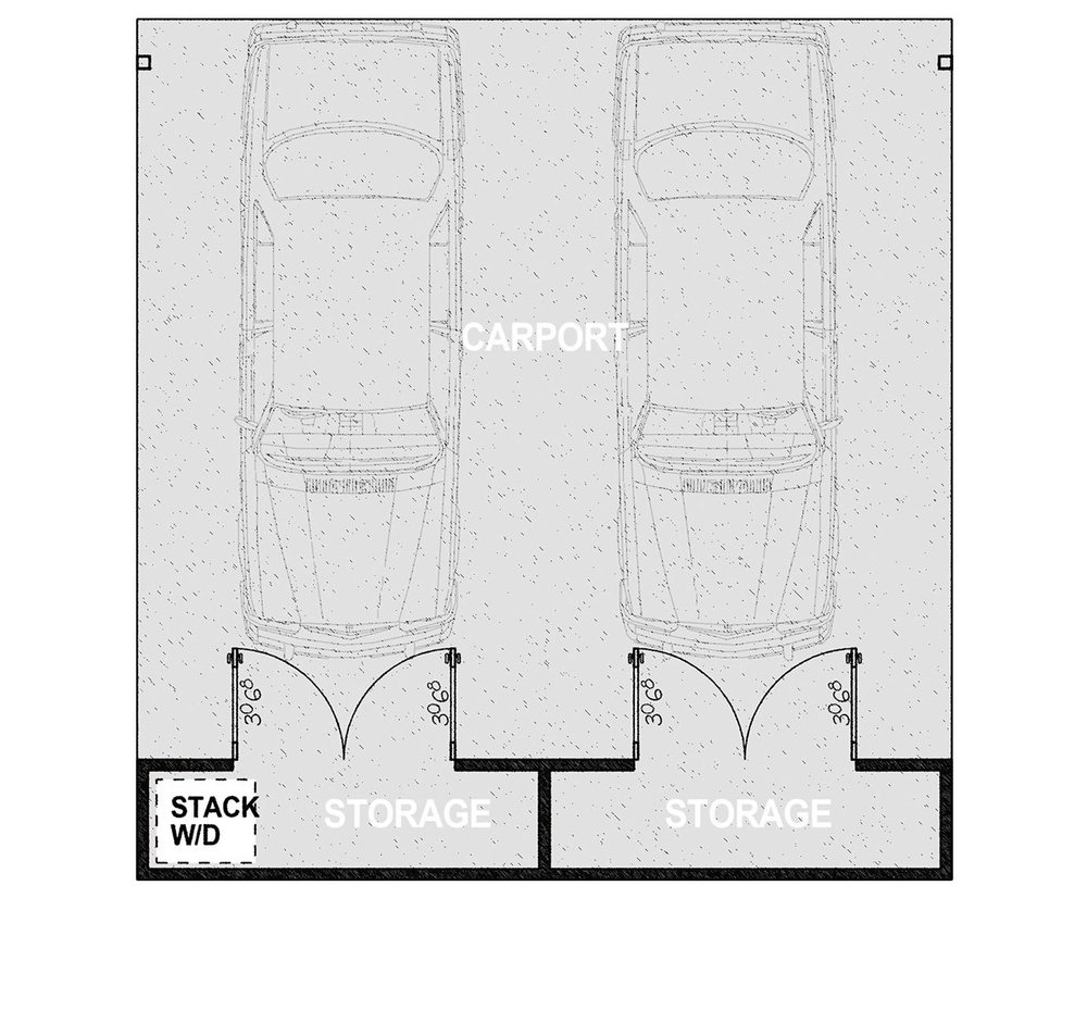 HMCP - Parking for two vehicles and two ample storage closets. It offers approximately 785 square feet of covered parking on a 510 square foot concrete slab.Learn More
