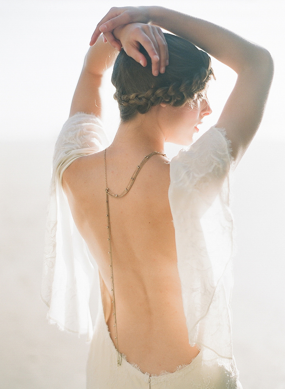 bride poses at golden hour at this oregon coast wedding photographed by Destination wedding Photographer Lexia Frank - a film photographer in portland oregon. TOP DESTINATION WEDDING PHOTOGRAPHY, OREGON COAST WEDDING, WWW DOT LEXIA FRANK DOT COM