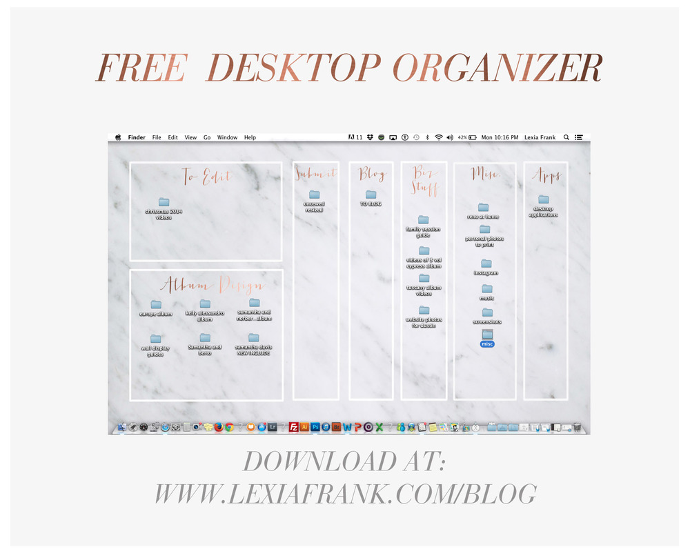 how to clean and organize desk screen on pc
