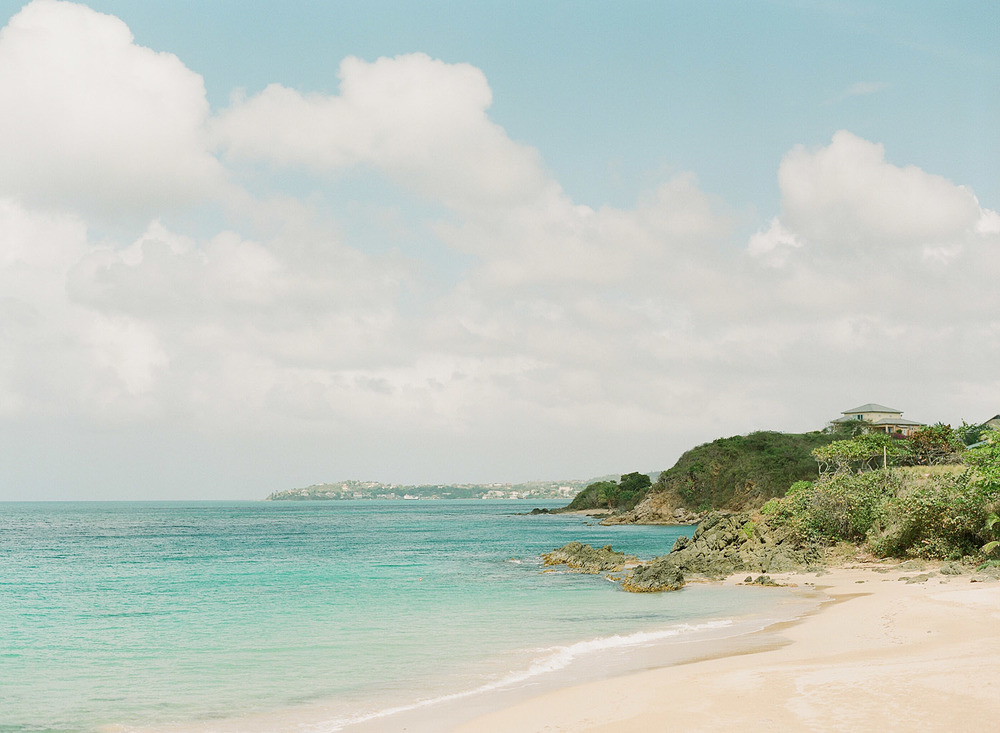 view of the beach at Vieques Island at the W hotel at this Destination Wedding at the W hotel in Vieques photographed on film by Destination wedding photographer Lexia Frank, a film photographer