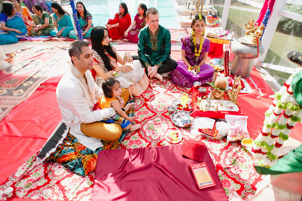 the pithi ceremony during this hindu wedding at the hammock beach resort in palm coast florida where Destination Wedding Photographer Lexia Frank - one of the best indian wedding photographers - photographs this luxury indian wedding on film because she is a film photographer for indian weddings using medium format film cameras still today