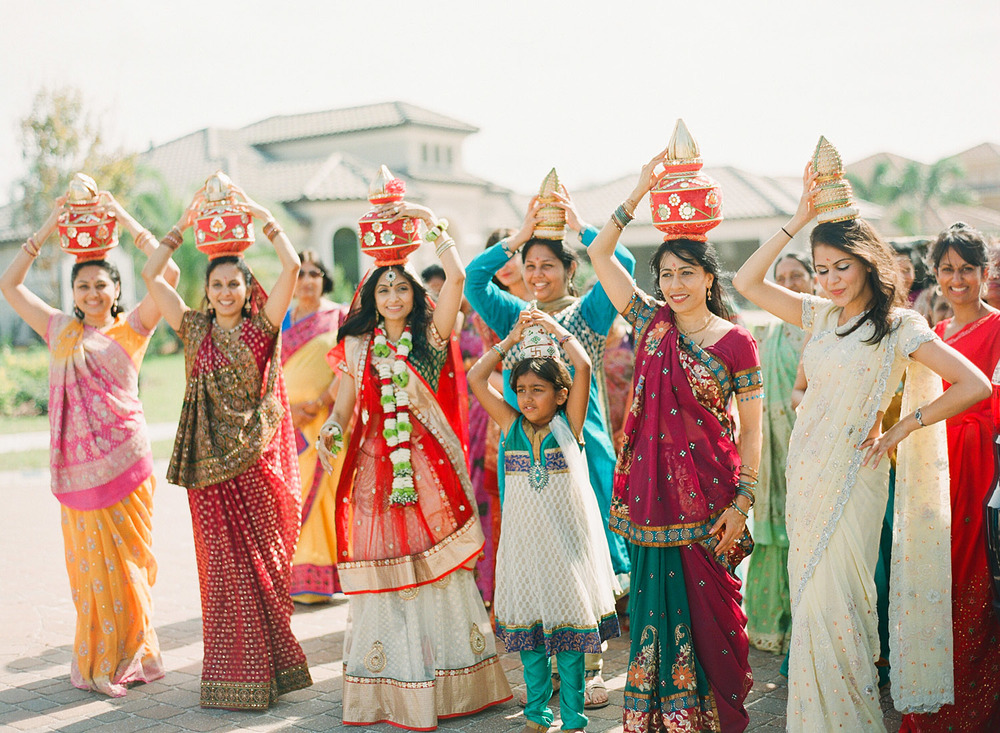 a parade during the pithi ceremony of this Hindu wedding in India where Destination Wedding Photographer Lexia Frank - a top indian wedding photographer - photographs this luxury indian wedding in india on film because she is a film photographer who shoots indian weddings