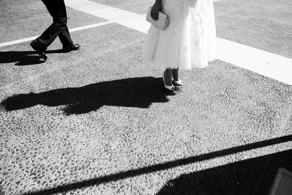 Destination Wedding Photographer Lexia Frank - a portland oregon fine art film photographer - documents this San Francisco City Hall Wedding as bride heads to the courthouse.  www.lexiafrank.com