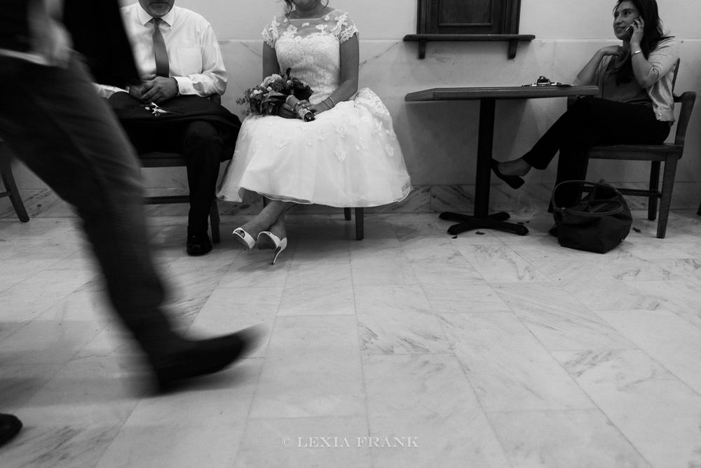 Destination wedding photographer Lexia Frank - a portland oregon fine art film photographer - photographs this san francisco city hall wedding in san francisco in black and white film www.lexiafrank.com