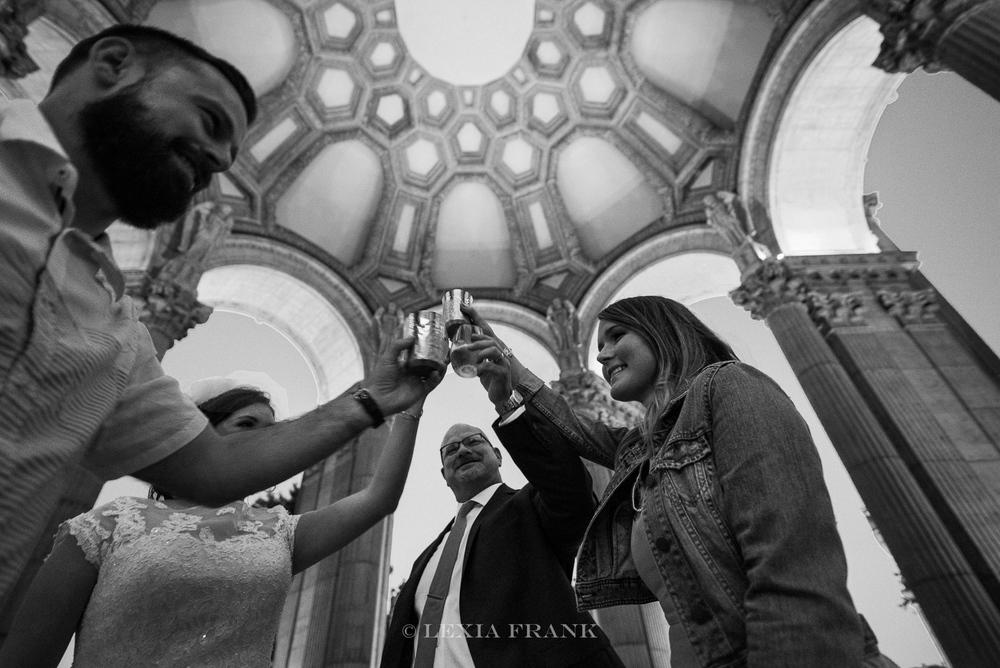 Destination wedding photographer Lexia Frank - a portland oregon fine art film photographer - photographs this san francisco city hall wedding in san francisco in  film www.lexiafrank.com