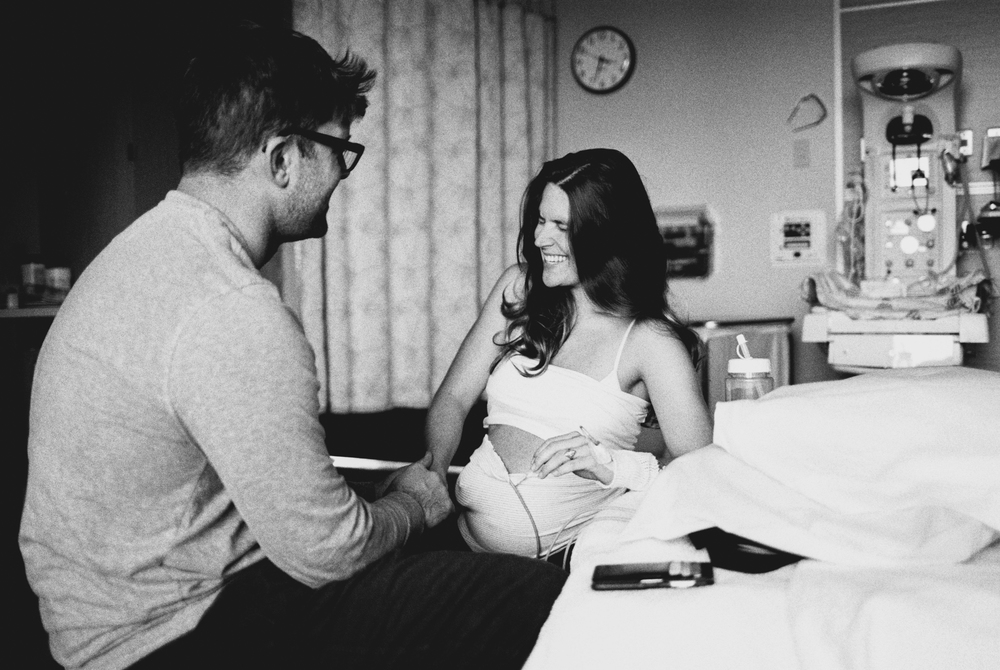 Destination wedding photographer Lexia Frank- a portland oregon fine art film photographer- gives birth to her third baby captured by Marla Cyree.