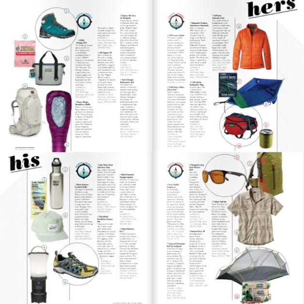 Gear Guide:  His and Hers gear for the Lake Tahoe region /  June, 2015 / Tahoe Magazine